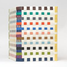 Hybrid of crossed structure and limp vellum bindings by Karen Hanmer