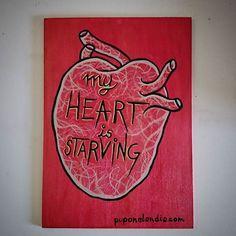 My heart is starving valentines day gift #puponelandia #acrylicpaint #valentinesgift #etsyvalentines #etsyfinds #etsygram #etsy #etsysellersofinstagram #etsysales #etsygifts #etsyart www.puponelandia.com