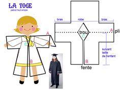 Choir Dresses, Men's Business Outfits, Graduation Photos, Graduation Ideas, Gown Pattern, School Photos, Baby Hats, Refashion, Kindergarten