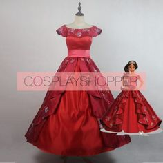 2017 Elena of Avalor Elena Princess Dress Cosplay Costume Disney Cosplay Costumes, Cosplay Wigs, Halloween Costumes, New York Office, Red Apple, Top Stitching, Lolita Fashion, Perfect Fit, Curves
