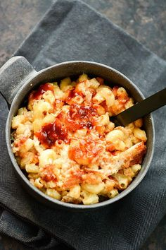 Slow Cooker Pulled Pork Mac and Cheese | AllFreeSlowCookerRecipes.com