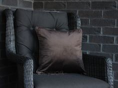 Velvet Pillows, Throw Pillows, Initial Cushions, Plain Cushions, Velvet Material, House Numbers, Chocolate Brown, Pillow Inserts, Minimalist
