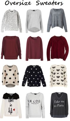 I love these over-sized sweaters. They are all so different, but I love the 'laid-back' look.