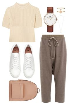 """#224. brown beige pink white"" by yvon-tani-jackson on Polyvore featuring Daniel Wellington, Totême, Rick Owens, PB 0110, Accessorize and Dorothy Perkins"