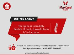 #DidYouknow? #MaxCureHospitals #MaxCure #Neckpain #Spinepain #SpinalCord #Incrediblyflexible #SpineSpecialist #ConsultDoctor #Neckandspinetreatment #Hyderabad