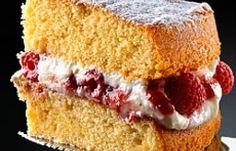 All-in-one Sponge Cake with Raspberry and Mascarpone Cream | Delia Online