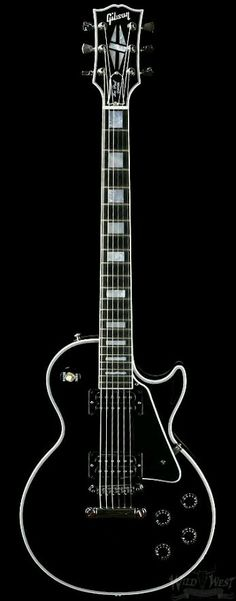 Classic Guitar Gibson Le Paul Black with white binding - is Beautiful! The white binding just works so well, really sets it off! Gibson Les Paul Black, Gibson Custom Shop, Gibson Guitars, Cool Guitar, Absolutely Stunning, Beautiful, Raven, Anna, Electric