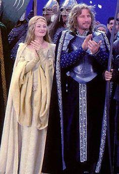 Eowyn and Faramir coronation costumes