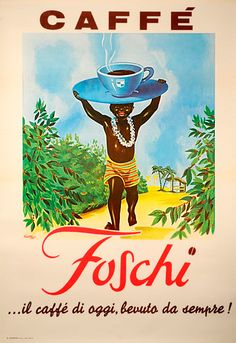 Vintage Italian Posters ~ #Italian #vintage #posters ~ Caffe Foschi Vintage Poster