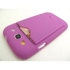 HOT PINK ID Card Hard Plastic Back Cover Case for Samsung Galaxy S3 III i9300 / i747 / T999 (All Carriers) [In Twisted Tech Retail Packaging]