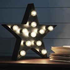 Broadway Star Light - View All Gifts - Gifts Wall Sconce Lighting, Wall Sconces, Mirrors, String Lights, Wall Lights, Light Letters, Star Wall, Christmas Home, Christmas Stuff