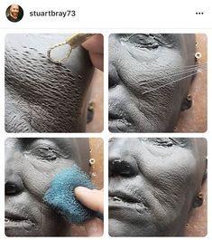 Sculptures Céramiques, Sculpture Clay, Sculpting Tutorials, Art Tutorials, Anatomy Sculpture, Ceramic Sculpture Figurative, Sculpture Techniques, Clay Crafts, Clay Art