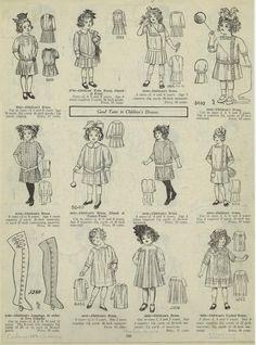 1914 - Good taste in children's dresses. Belle Epoque, Vintage Dresses, Vintage Outfits, Vintage Clothing, Edwardian Fashion, Edwardian Era, Mode Vintage, Fashion Plates, Vintage Sewing Patterns