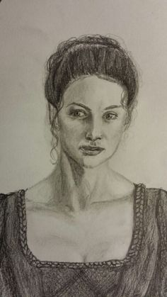 """A sketch of """"Claire"""". Drawn this afternoon. 11/27/14, by me (pinterest.com/anditotl)"""