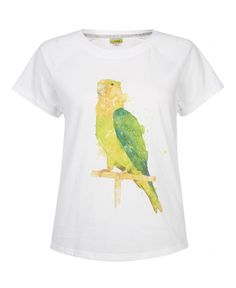 White NW3 Green Parrot T Shirt