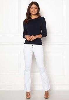 Bubbleroom - Sko & Klær på nett White Jeans, Sweatshirts, Pants, Fashion, Moda, Hoodies, Trousers, Fashion Styles, Women Pants