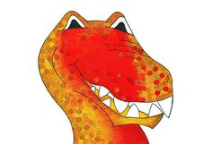 Dino Raw - Speckled Flame T-Rex Raw T Rex, Design, Art, Art Background, Kunst, Performing Arts, Art Education Resources, Artworks