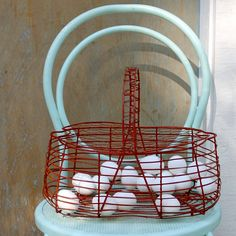 Turquoise, red, and white!