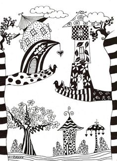 9 CANYON by Linda Drake, via Flickr. Love Linda's humor in her subject choices. More whimsical designs here