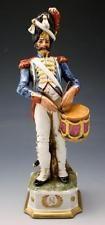 C1910 Porcelana de Capodimonte Di Pietro, Figura De Um Soldado De Napoleão Com Tambor