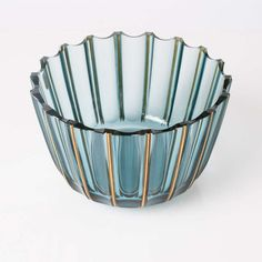 Swedish Art Deco Glass Bowl by Elis Bergh for Kosta Signed Kosta Boda, Art Deco Glass, Ceramic Tableware, Art Object, Innovation Design, 1930s, Tabletop, Vases, Home Accessories