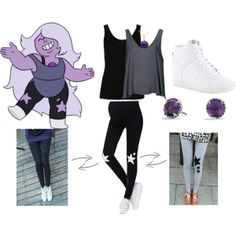 """""""Amethyst: Steven Universe"""" by katewithpaint on Polyvore"""