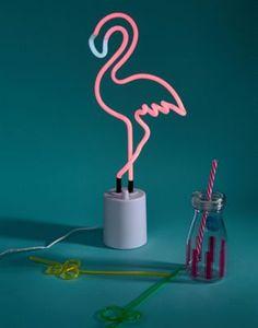 Большой неоновый светильник в виде фламинго Sunnylife