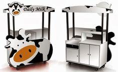 New Food Truck Sketch Design Ideas Food Court Design, Food Truck Design, Coffee Box, Coffee Carts, Kiosk Design, Booth Design, Doughnut Stand, Daily Milk, Coffee Food Truck