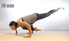 Виньяса йога медленная интенсивная средний уровень 70 мин