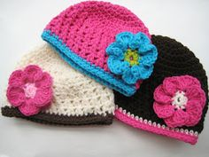 For the Love of Crochet Along: Fall Beanie with Flower, Crochet Pattern (all sizes from newborn to adult)