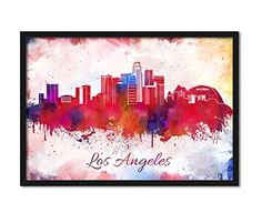 Los Angeles California Skyline Abstract Watercolor Modern Art Travel City LA Hollywood Sign Cityscape Wall Hanging Home Décor #LosAngeles #LosAngelesSkyline  #WatercolorModern #Cityscape  #WallHanging #HomeDécor #TravelCityLAHollywoodSign https://www.amazon.com/dp/B01N775QHA/ref=cm_sw_r_pi_dp_x_pmxoyb42E40BV