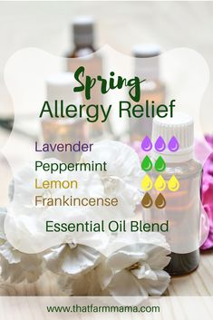 Spring Allergy Relief Essential Oils Diffuser Blend ••• Buy dōTERRA essential oils online at www.mydoterra.com/suzysholar, or contact me suzy.sholar@gmail.com for more info.