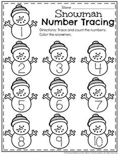 Top Ten Everyday Living Insurance Plan Misconceptions Winter Number Tracing Worksheets For Preschool. Numbers Preschool, Preschool Themes, Preschool Lessons, Preschool Worksheets, Preschool Classroom, Preschool Learning, Classroom Activities, In Kindergarten, Winter Preschool Activities