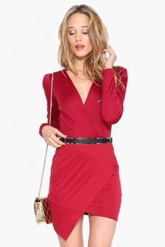 Girls Night Dress in Burgundy | Necessary Clothing