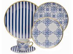 Aparelho de Jantar Lusitana 30 Peças - em Porcelana - Oxford com as melhores condições você encontra no Magazine Gatapreta. Confira!