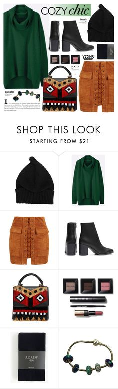 """Cozy chic - Yoins 5.14"" by cly88 ❤ liked on Polyvore featuring WithChic, Les Petits Joueurs, Bobbi Brown Cosmetics and J.Crew"