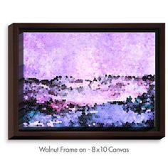 DiaNocheDesigns 'Midnight Mood' by Iris Lehnhardt Painting Print on Wrapped Framed Canvas