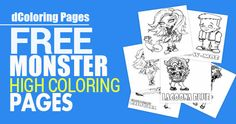Calling all parents with Monster High fans! Head on over and print out several of these FREE Monster High Coloring Pages! This should keep the kiddos entertained for Free!