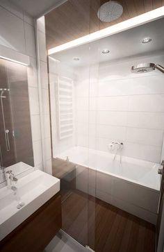 Aranżacja wnętrz niedużego mieszkania w Warszawie   K. S. ARCHITEKCI   Kinga Brix-Grobelna • Seweryn Grobelny Alcove, Bathtub, Bathroom, Standing Bath, Washroom, Bathtubs, Bath Room, Bath, Bathrooms