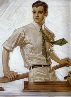 JC Leyendecker Portrait of  Charles Beach 1922 Arrow Shirts