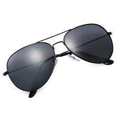 3645dbee3374 From 14.99 Yveser Uv400 Polarised Aviator Sunglasses For Men   Women (black  Lens   Black