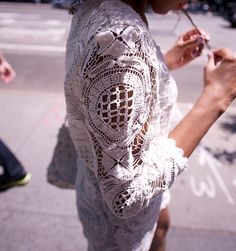 white lace by Karenab, via Flickr