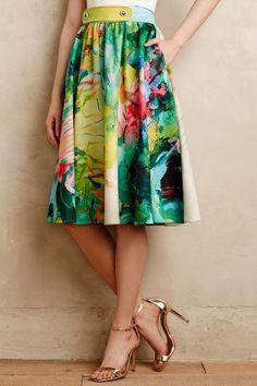 Fauvism Midi Skirt #anthrofave