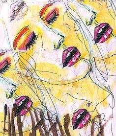 yellow skin, pink makeup