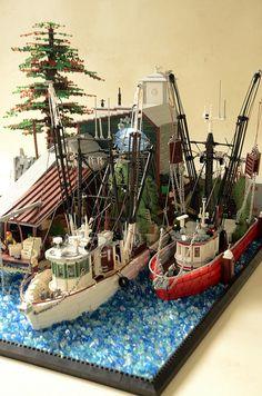 — BrickNerd - Your place for all things LEGO and the LEGO fan community : Patterson Seafood corp. Lego Mindstorms, Lego Technic, Lego Design, Lego City, Bateau Lego, Lego Boot, Lego Poster, Lego Disney, Lego Hacks