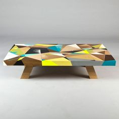 Geometrically Painted Tabletops - The East Editions 001 Coffee Table is Painted by Vans The Omega (GALLERY)