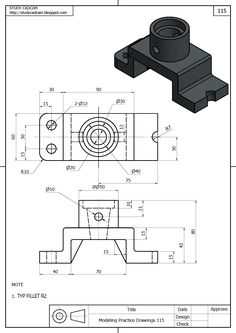 Cad 3d Modeling Exercises