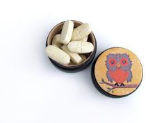 Owl Pill Box - Little Owl Non Toxic Vitamin Box - Owl Ring Box on Etsy, $8.95