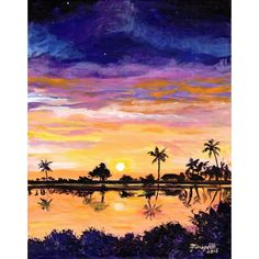 Kauai Salt Pond Beach Park, Original Kauai Paintings, Hawaiian Beach... (340 CAD) ❤ liked on Polyvore featuring home, home decor, wall art, painted wall art, beach wall art, sunset painting, beach paintings and beach scene painting