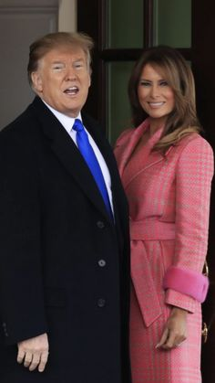 : President & First Lady Melania Trump, Presidents Wives, Greatest Presidents, Trump Picture, Malania Trump, Donald And Melania, Juan Pablo Ii, Trump Is My President, First Lady Melania Trump, American Pride